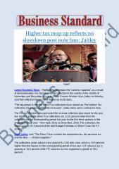 Higher tax mop up reflects no slowdown post note ban- Jaitley.pdf