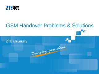 GO_NAST3003_E01_1 GSM Handover Problems & Solutions 54.ppt