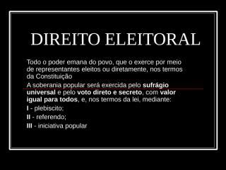 RESUMO DIREITO ELEITORAL.ppt