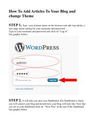 How To Add Articles To Your Blog and change Theme.pdf