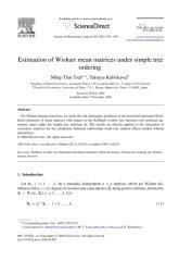 Estimation WishartMeanMatricesUnderSimpleTreeOrdering.pdf