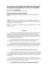 As inovações na legislação previdênciária trazida pela Instrução Normativa INSS.doc