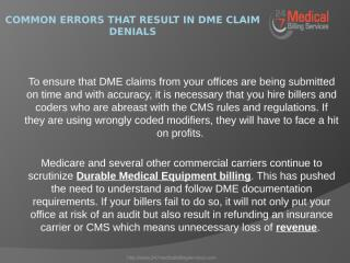 Common Errors that Result in DME Claim Denials.pptx