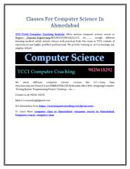 Classes For Computer Science  In Ahmedabad.doc