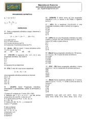 Progressão Aritmética (P.A.) - Exercícios