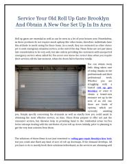 Service Your Old Roll Up Gate Brooklyn And Obtain A New One Set Up In Its Area 17.doc