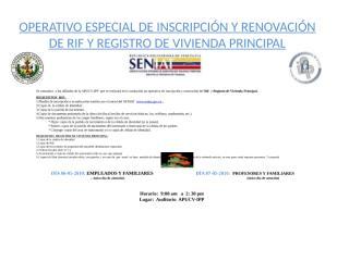 JORNADA DE RIF Y VIVIENDA PRINCIPAL EN EL IPP-APUCV.ppt