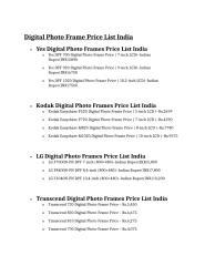 Digital Photo Frame Price List India.doc