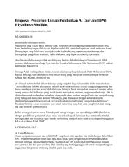 Proposal Pendirian Taman Pendidikan Al Quran Riyadush Sholihin.docx