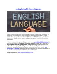 Looking for English Tutor in Singapore.docx
