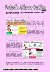 Help in Dissertation Extends Remarkable Thesis Services for the Research Scholars.pdf