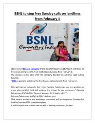 BSNL to stop free Sunday calls on landlines from February 1.pdf