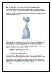 Buy Can Seaming Machine from XTime Packaging Machine.PDF