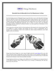 Bimetallic Barrel & Bimetallic Screw First Manufacturer in China.pdf