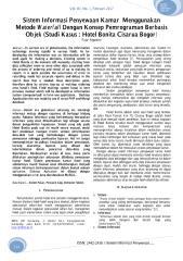 Sistem Informasi Penyewaan Kamar Menggunakan Metode Waterfall Dengan Konsep Pemrograman Berbasis Objek (Studi Kasus  Hotel Bonita Cisarua Bogor).pdf