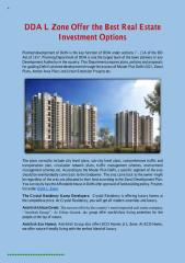 DDA L Zone Offer the Best Real Estate Investment Options.pdf