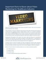 Important Facts to Know about Video Marketing for Healthcare Industry.pdf