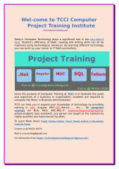 Wel-come to TCCI Computer Project Training Institute.doc