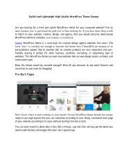 Stylish and Lightweight High-Quality WordPress Theme (Swoop).pdf