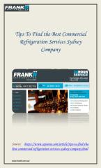 Commercial Refrigeration Service in Sydney.pdf